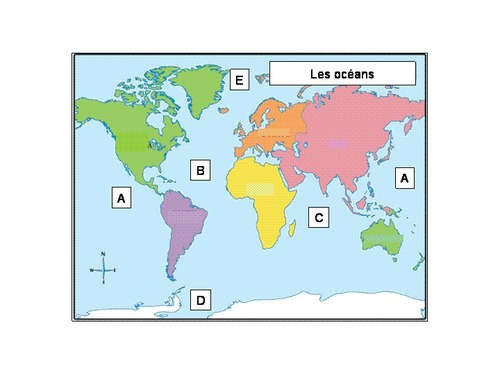 6 les grands rep res terrestres for Planisphere enfant