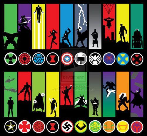 Logo personnage Marvel | Quiz BD, Mangas