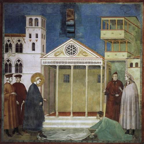 Un gran pittore ha raccontato la vita di questo Santo con affreschi. Come si chiama?