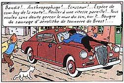 Est-ce que l'on voit cette voiture dans l'album intitulé L'affaire Tournesol ?