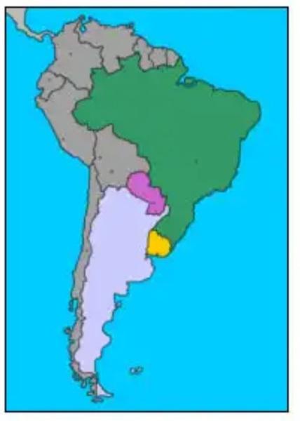 Os países fundadores do Mercado Comum do Sul (Mercosul) são :