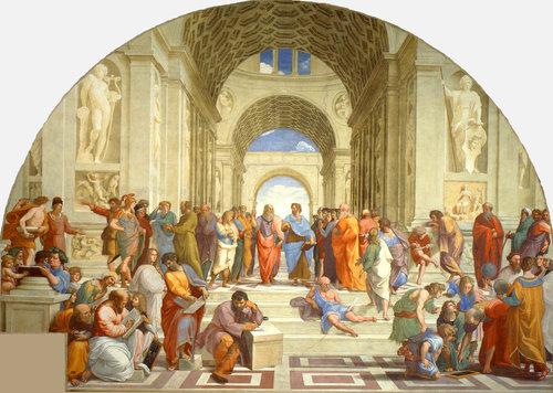L'opera di Raffaello che rappresenta la Conoscenza con i filosofi e gli scienzati si chiama la scuola...