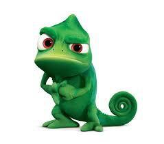 Comment s'appelle le caméléon de Raiponce ?