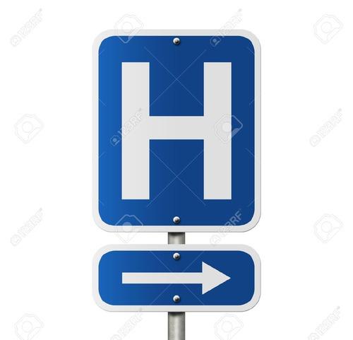 Le H de ce panneau indique à proximité :