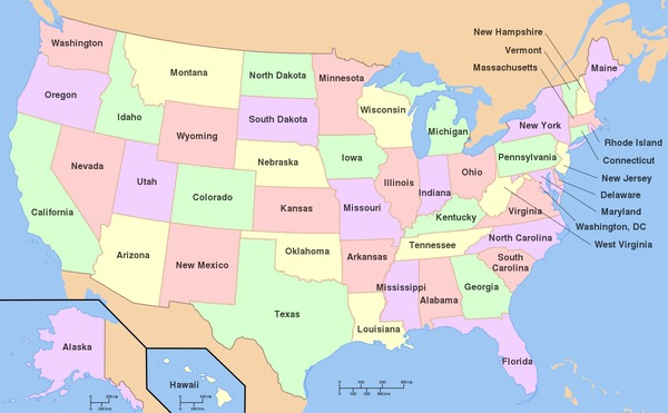 How many states are there in the United States ?