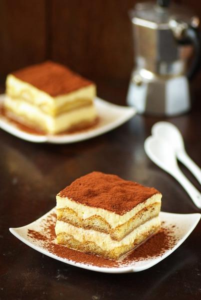 A l'origine, le tiramisu est un dessert parfumé au café.