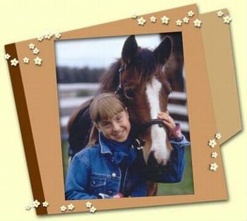 Qui est cette personne avec son cheval ?