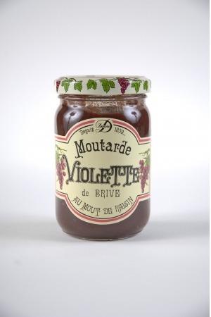 A quel ingrédient doit-on la couleur violette de la moutarde de Brive ?