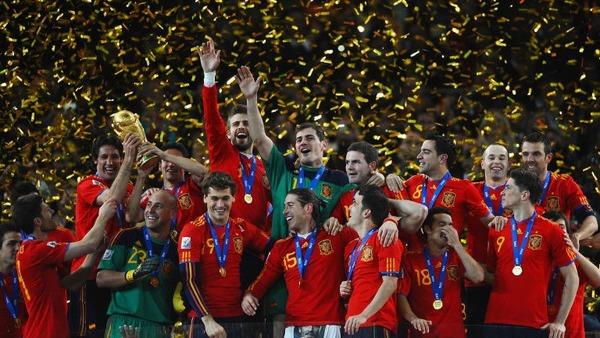 En 2010, l' Espagne remporte son deuxième Mondial.