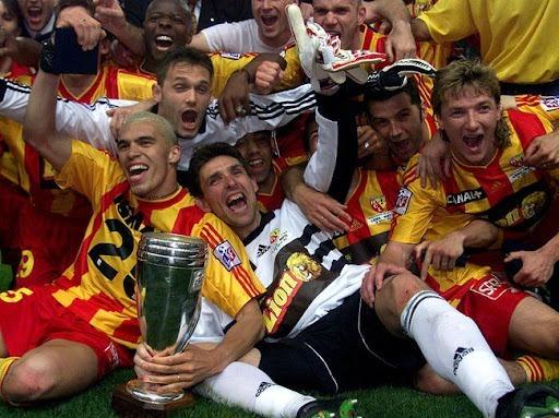 En quelle année le RC Lens a-t-il remporté la Coupe de la Ligue ?