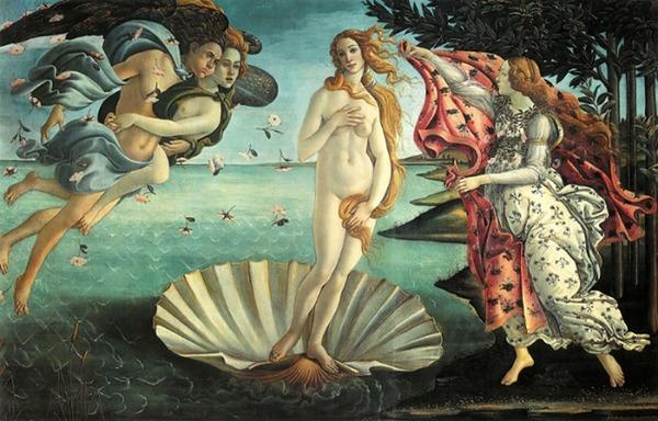 Completa con le preposizioni: La Nascita .....Venere, .....Botticelli, è ......sempre considerata l'idea perfetta ...... bellezza femminile ......arte. L'opera ......arte è attualmente conservata ...... Galleria degli Uffizi ..... Firenze.