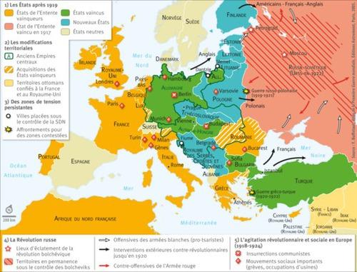 D'un point de vue territorial, les frontières à l'intérieur de l'Europe ne sont pas modifiées.