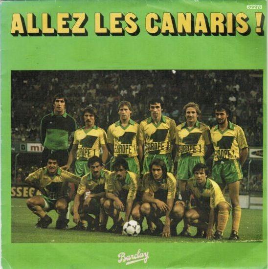 """En 1977, qui enregistre le 45 tours """"Allez les canaris !"""" ?"""