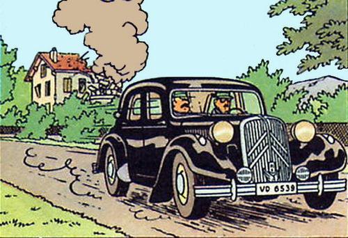 Dans quel album voit-on cette voiture noire ?