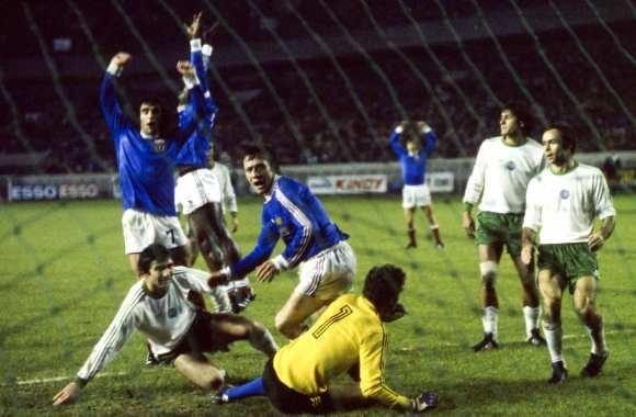 Le 16 novembre 1977 au Parc des Princes, les bleus décrochent leur billet pour le Mondial 78 en battant.....