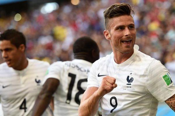 En 2014, contre quelle équipe Olivier Giroud a-t-il inscrit un but ?