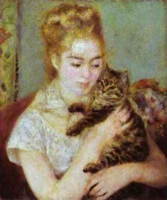 """Qui a peint """"une femme et son chat"""" ?"""