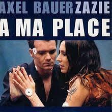 Dans la chanson '' A ma place '' d'Axel Bauer et Zazie. Retrouvons  5 mots manquants. Je veux bien faire la belle, _   _   _   _   _