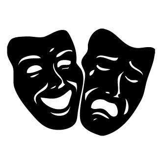 Qual é o significado das máscaras que simbolizam o Teatro?