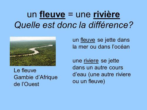 Quelle est la différence entre une rivière et un fleuve ?