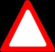 Que désigne un panneau triangulaire à bord rouge ?