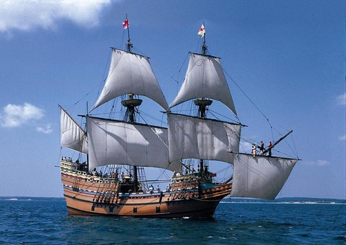 How was called the boat that went to America with the puritains ?