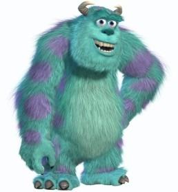 Comment s'appelle le monstre bleu dans ''Monstre & Co'' ?