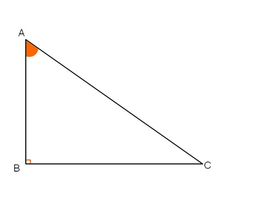 Ans le triangle ABC, rectangle en B, tanBÂC =
