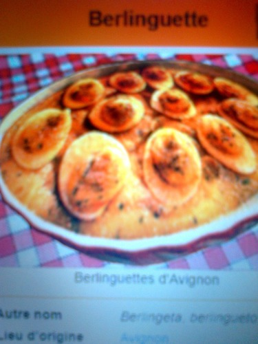 """Là""""BERLINGUETTE""""est une spécialité culinaire de quelle ville"""