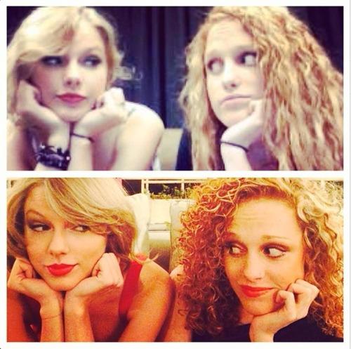 Resimdeki Taylor 'ın en yakın arkadaşlarından biri olan kızın adı nedir ?