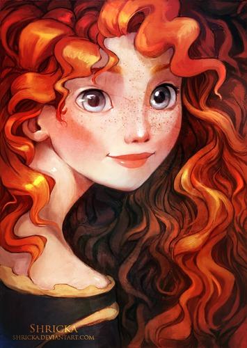 Comme s'appelle la princesse aux cheveux roux bouclés ?