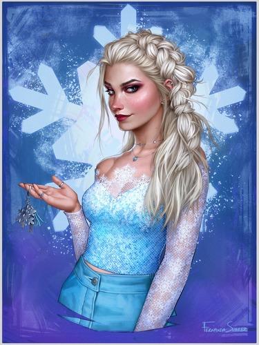 Dans le film d'animation Disney 《La reine des neiges II》 :