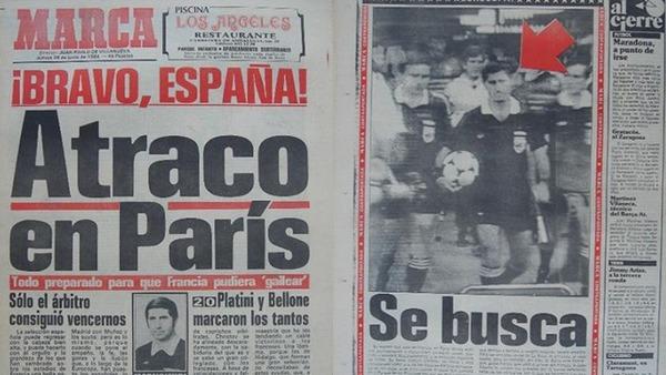 Que titre le journal espagnol Marca, au lendemain de la défaite espagnole ?