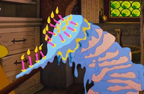 Dans quel grand classique Disney peut-on voir ce gâteau d'anniversaire ?