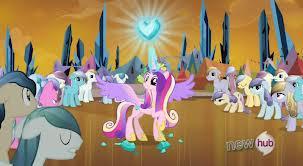 ¿Quien da el corazón de cristal a la princesa cadence?