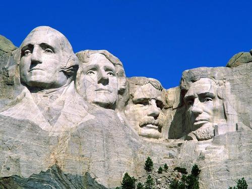 Lequel n'est pas représenté sur le Mont Rushmore ?