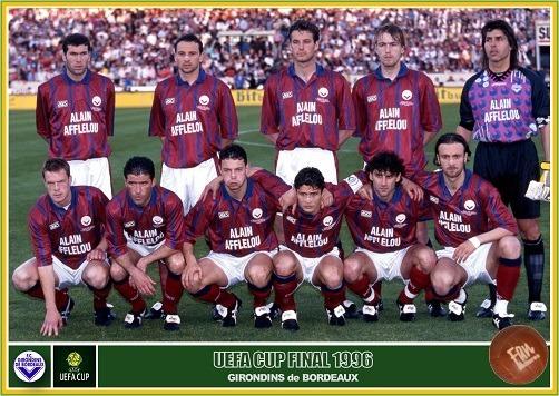 Contre quelle équipe les Girondins perdent-ils la double finale de la Coupe UEFA en 1996 ?