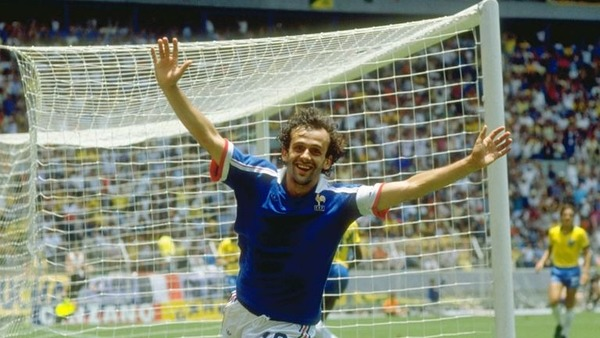 Michel Platini sera le seul joueur du Mondial 86 a inscrire un but contre le Brésil.