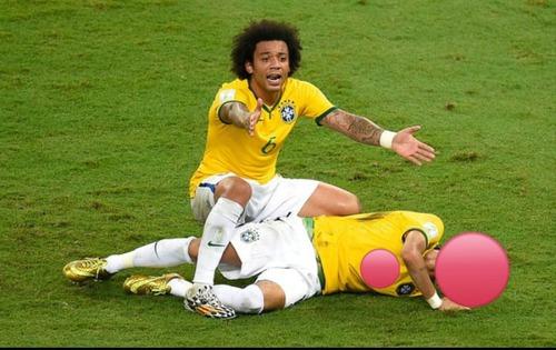 Que jogador brasileiro fiçoi lesionado nss quartas de finais na Copa do Mundo de 2014 ?
