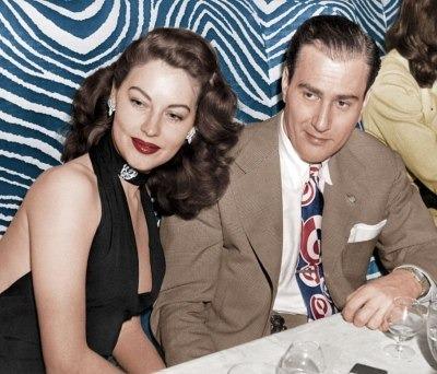 Eva Gardner avec un de ses maris, mais qui est cette homme au drôle de nom ?