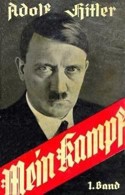 """Le livre d'Hitler se nomme """"Mein Kampf"""" qui signifie :"""