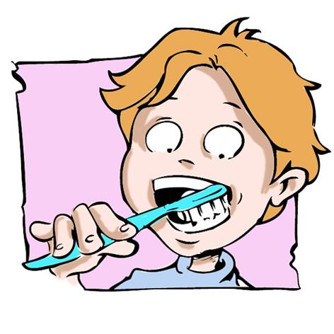 Quand on se brosse le dents il faut :