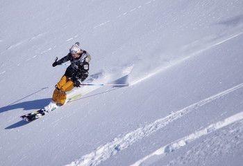 Mis à part les bosses, dans quel type de neige se pratique le monoski ?