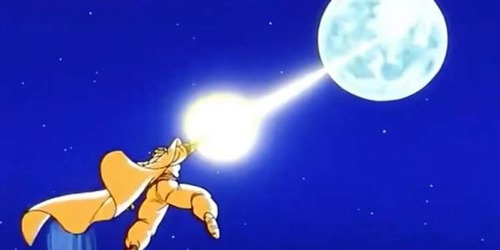 Quando olham para a lua cheia, os Saiyajins transformam-se em...