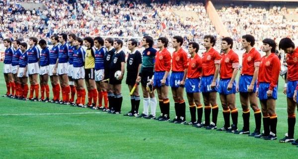 Le 27 juin 1984, l'équipe de France et d'Espagne s'affrontent en finale ....