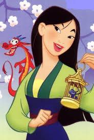 Qui donne un criquet ( porte bonheur ) à Mulan ?