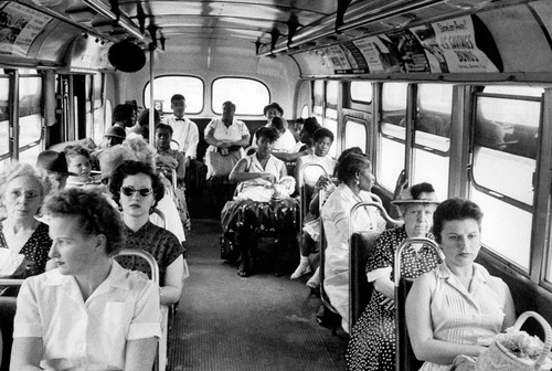 Black people .............. to sit in the back (l'arrière) of the bus.