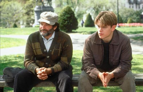 Matt Damon et Robin Williams jouent ici une scène du film ?