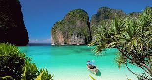 Ce beau paysage ensoleillé, les cocotiers, la mer bleue scintillante : mais dans quel pays peut-on voir ce paysage ?