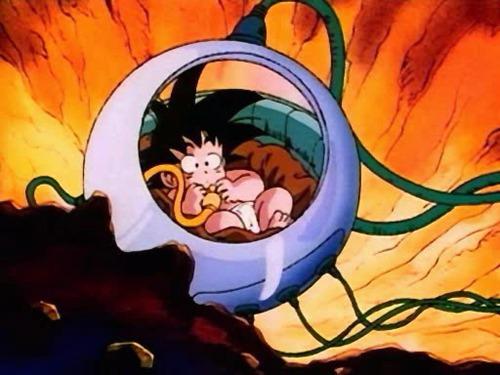 Por qual motivo goku foi enviado à terra quando criança ?